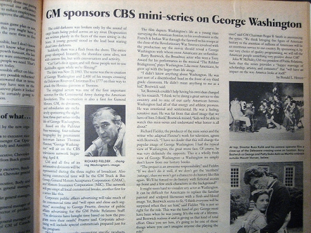 G. Washington Article