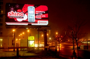 Rogers Shine billboard manufactured by FlashTech Canada.