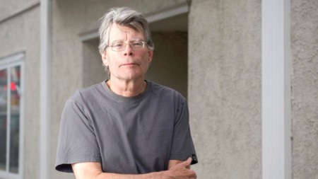 Author Stephen King in Bridgton, Maine.