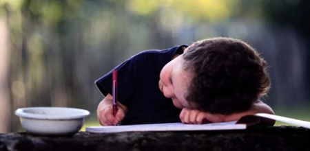 kid writing