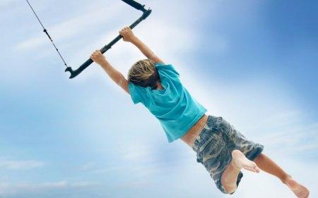 swing in sky